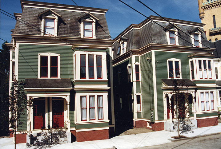 5 and 7 Chapin Street, twin homes revitalized in the 90s